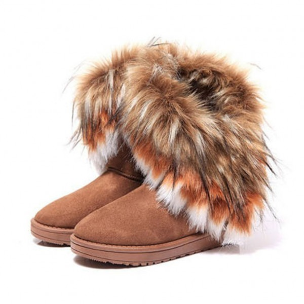 Womens Fur Boots - Cr Boot